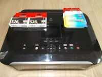 Canon 526 black and colour genuine new and unopened ink cartridges.