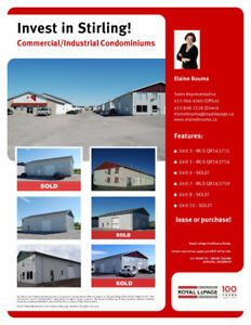 Reduced! 3 Commercial/Res. Buildings in Stirling, Ontario.