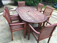 garden table and chairs for sale in leeds. wooden garden table and six chairs for sale in leeds