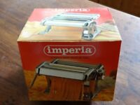 Imperia pasta maker, for home made spaghetti. Used twice only, in original box.