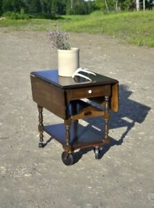 Tea Trolley with Removable Tray and Drawer