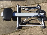Carl Lewis rowing exercise machine