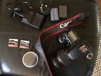 Canon EOS 40D Digital SLR Camera with 18-55mm zoom lens and extras