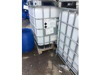 1000 Litre clear ibc water/storage/waste tank