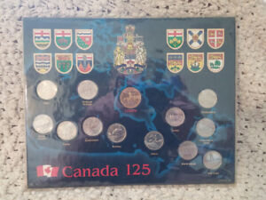 Canada 125th anniversary coin set 1992