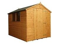 6' x 6' heavy duty (12mm)wooden garden shed