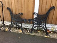 Cast iron garden benches / tables / bench ends / patio sets / garden furniture from £15