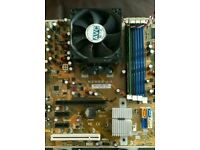 Cpu and motherboard phenom x3 2.3g + 2gb ddr2