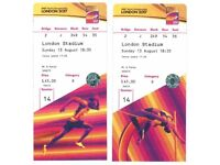 IAAF World Championships London 2017. Sunday 13th. 1 Ticket remaining.