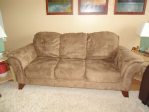 Microfibre 3-seater Sofa - Great Condition - From Reids
