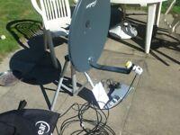 Mobile Satellite Dish and receiver Kit