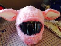 Light Pink Rabbit Helmet Cover