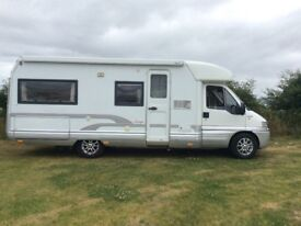 Fiat Ducato Motorhome Low Line Laika Body 4 Berth Fixed Double Bed