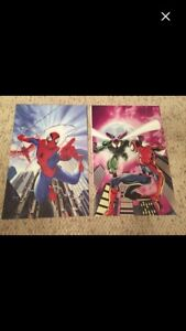 2 Spider-Man posters Space city comic con NEW