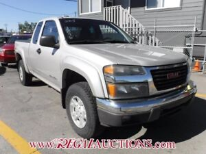 2005 GMC CANYON SLE EXT CAB 4WD SLE