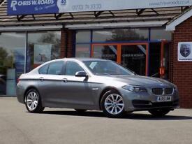 BMW 5 SERIES 2.0 520D SE 4dr AUTO 188 BHP * Nav & Leather * *Lu (grey) 2015