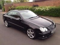 2008 08 Reg Mercedes-Benz CLK Coupe 3.0 CLK320 CDI Sport Diesel 7G-Tronic (Automatic), Paddle Shift