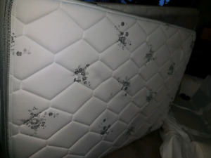 Queen size Matress and box spring. Bed frame available.