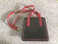 Dark Tan/Red Hand Bag