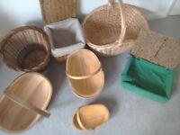 Baskets Rustic Handmade Assortment