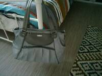 Silver nappy bag
