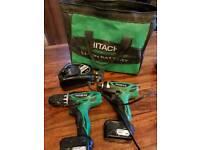 Hitachi drill set