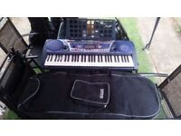 Yamaha PSR-262 Portable Grand Keyboard PLUS book stand and case