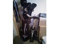 Dunlop Golf clubs + bag + trolley