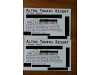 6th August SUNDAY 6/7/2017 Alton towers tickets
