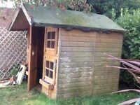 Wood children's playhouse 8x6