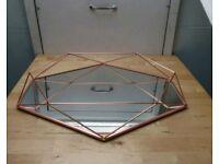 Wall mirror geometric copper