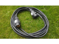 12 Volt 7 pin N type 6m extension cable for trailer, horsebox, caravan, light board