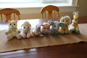 Collection of 7 Precious Moments plush animals