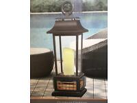 Garden Outdoor PowerHeat LED Electric Candle Table Black Lantern Patio Heater