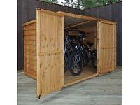 Overlap Bike Shed for your Garden