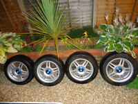 Nostalgic Rare 14 inch Wheels to fit Ford Fiesta Mark 2, Escort Mark 2/3, KA Mark 1 (4 stud Alloys)