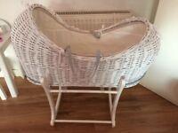 White Moses basket