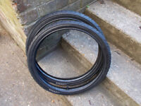 pair of 20 x 1.50 slick tyres , ideal bmx