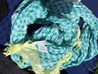 Variety of woolly hats and scarves