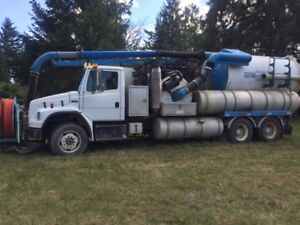 Hydrovac Truck with Low Miles and Ready for Work