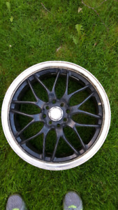 """17"""" universal 4 bolt rims and tires"""