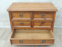 Heavy duty Pine rustic chest of drawers (Delivery)