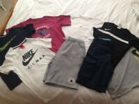 Clothes bundle,tshirts and shorts age 10/12
