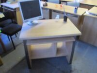 Used Beech Computer Desk