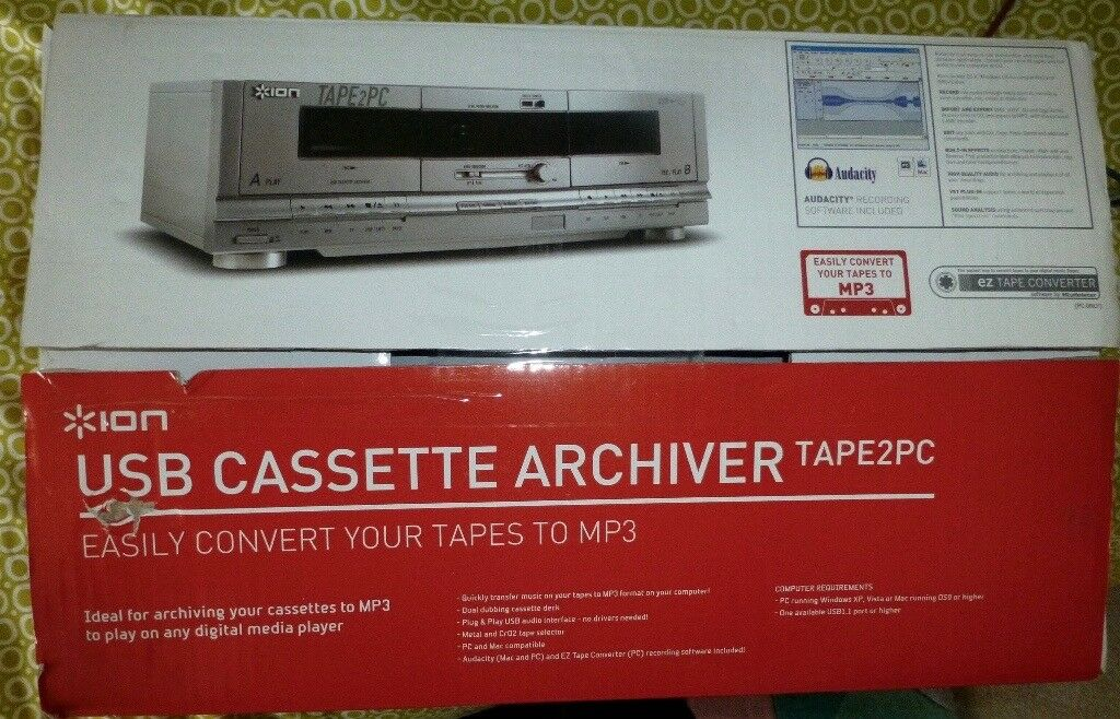 ARCHIVE YOUR TAPE CASSETTES (transfer recordings to a computer via USB) ION Tape2PC Had it from new