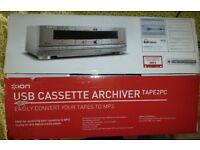 ION Tape2PC USB CASSETTE ARCHIVER (TO TRANSFER CASSETTE RECORDINGS TO YOUR COMPUTER) Had it from new