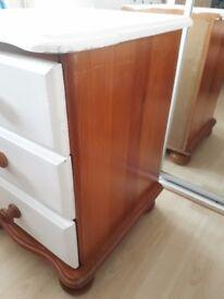 Pine bedside drawer unit