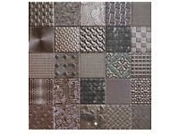 Mosaic tiles , metallic , bought for house but not used