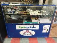 Glass mobile retail cabinets need gone asap!!!