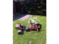 Kids bike and pedal go cart